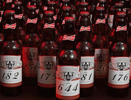 百威梅西向160个饲养员发送644个啤酒瓶