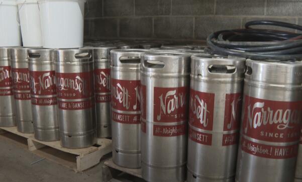 纳拉甘西特啤酒在普罗维登斯的印度角新建的啤酒厂即将完工