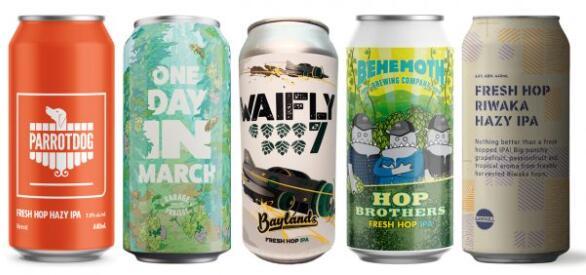 新鲜跃点猕猴桃啤酒打入超市货架