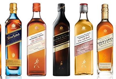 酒知识:尊尼获加黑牌,蓝牌,红牌,绿牌有什么不同?