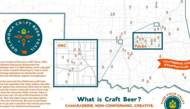 俄克拉荷马州推出全州精酿啤酒之路
