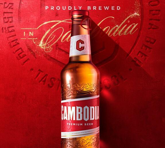 柬埔寨啤酒强调了图标的地位 同时删除了一个有争议的图标