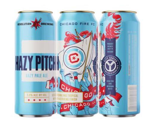 芝加哥火与革命酿造合作伙伴的新团队品牌朦胧沥青淡色麦酒