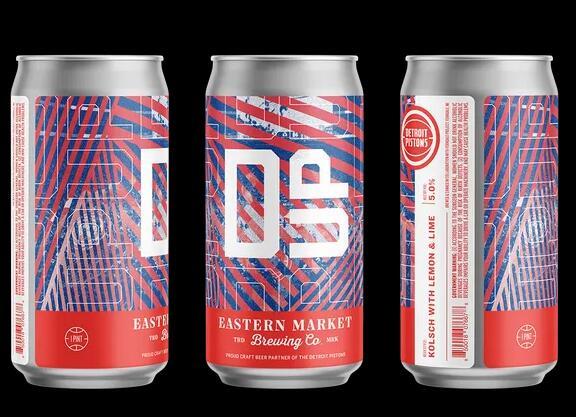 Eastern Market Brewing Co.成为底特律活塞队的官方精酿啤酒合作伙伴