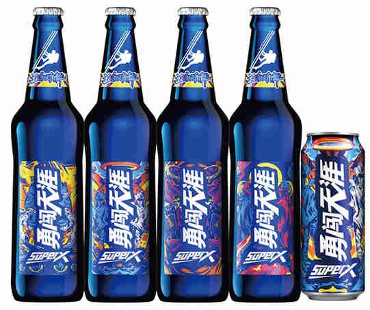 """啤酒知识:勇闯天涯superX""""新皮肤""""上线,和小蓝瓶一起解锁街舞style!"""